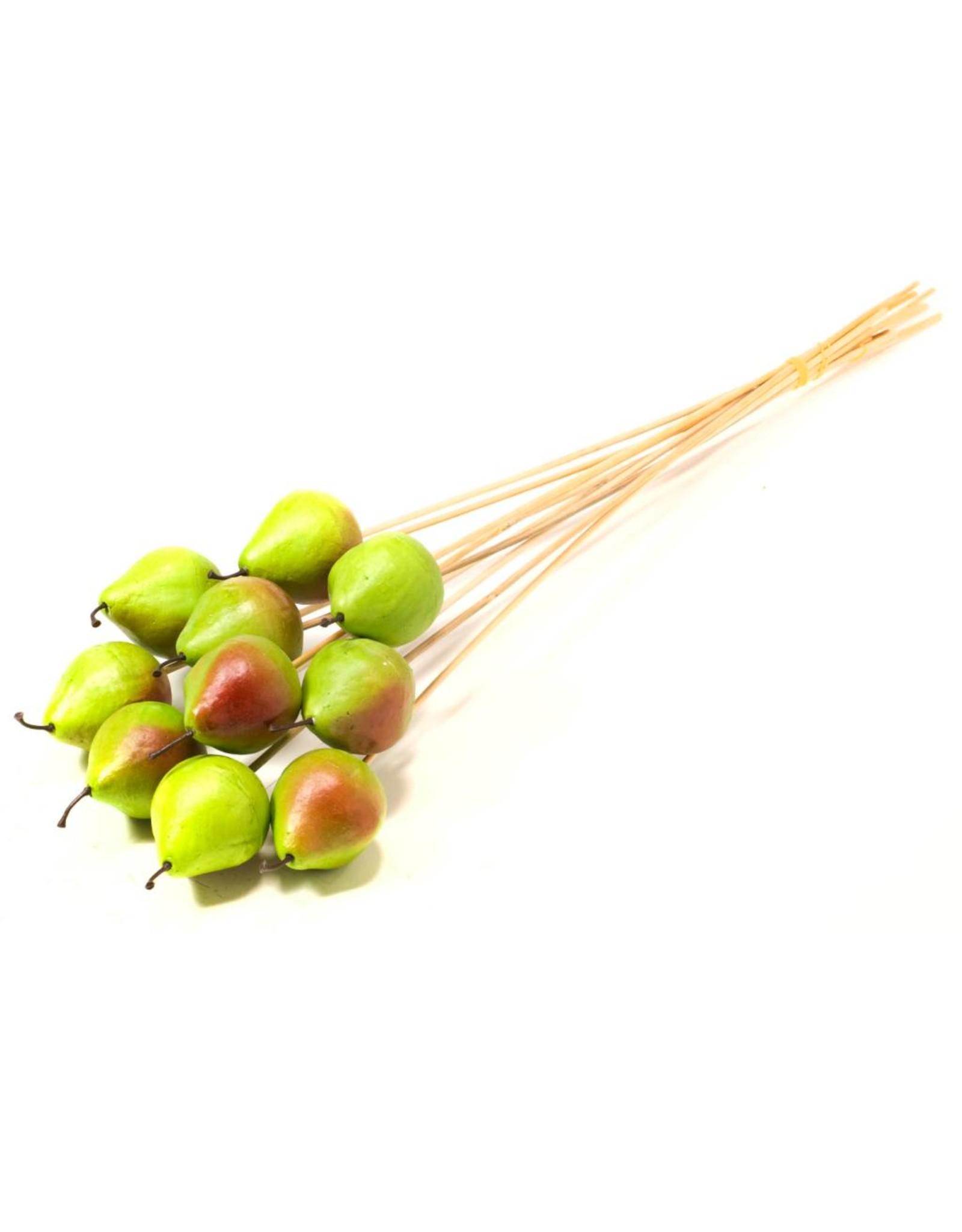 LDD Pear 5cm o/s 10pc natural green x 25