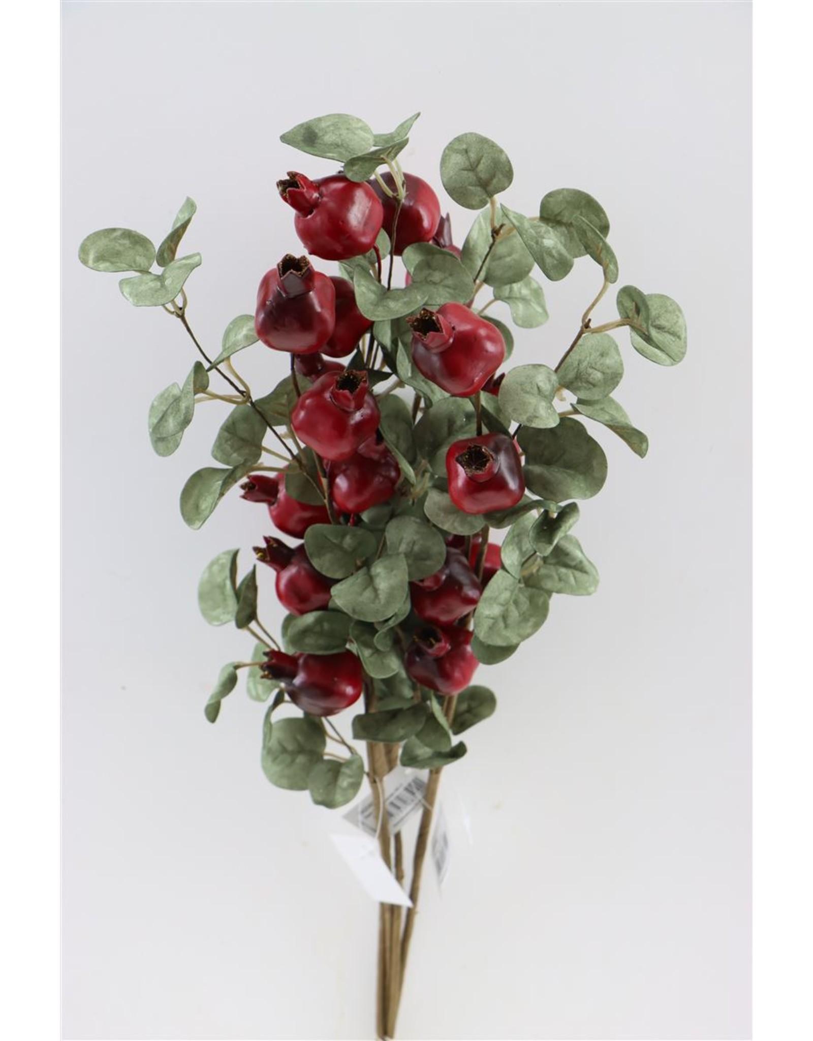 GF Deco Pomegranate 65cm Red P. Stem x 4