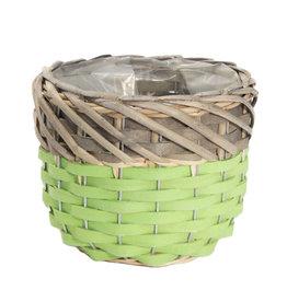 4AT Manden Willow Pot d15*12cm x 4
