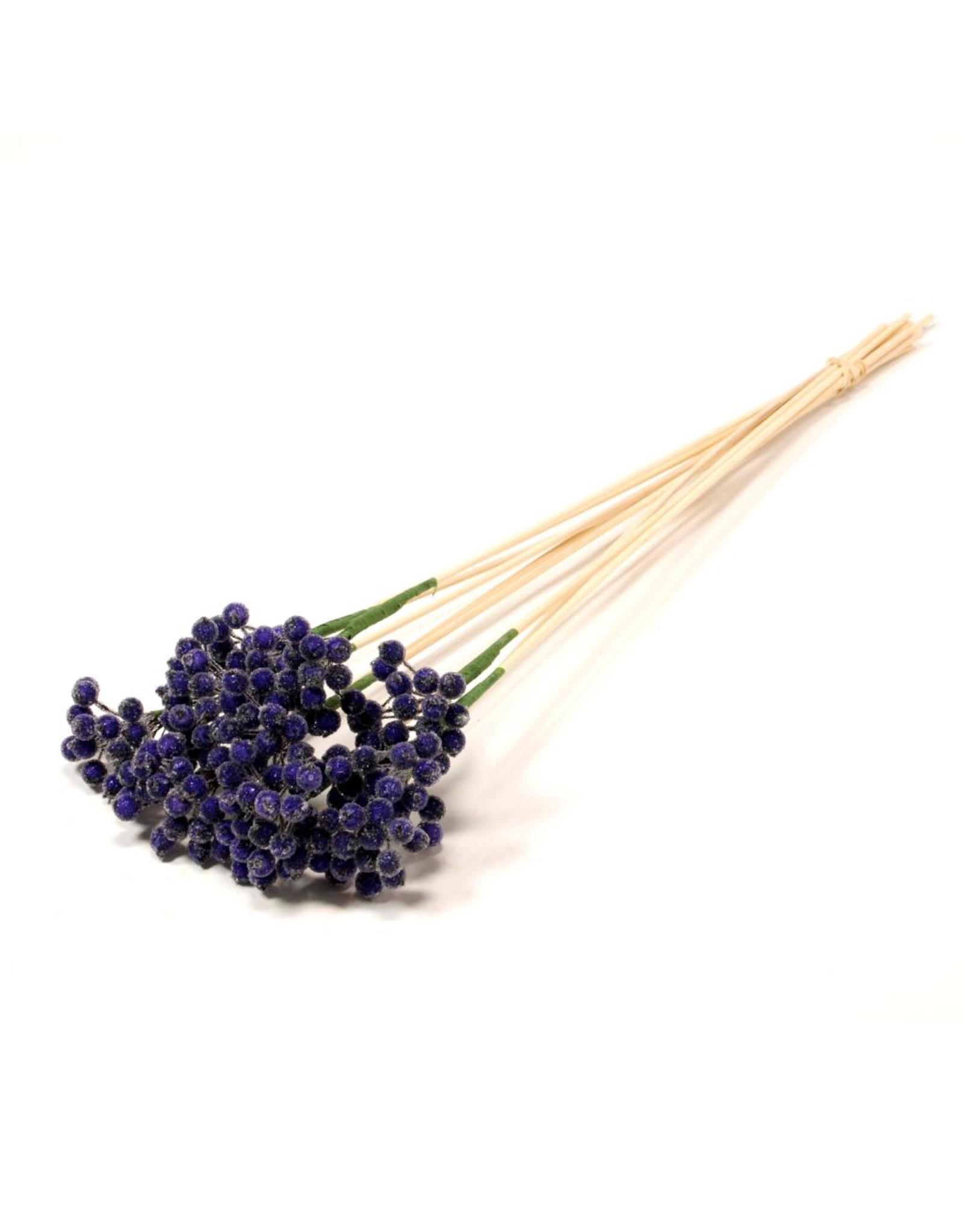 LDD Berry sugar cluster o/s 10pc purple x 25