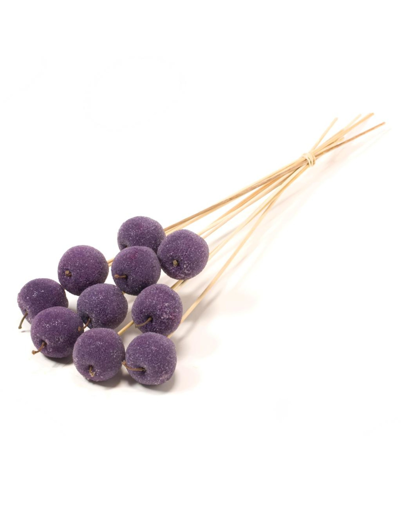 LDD Apple sugar 5cm o/s 10pc purple x 20