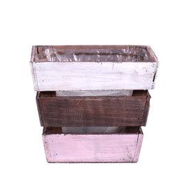 DF Planter Nikole4 14x14x12 pink/white x 36