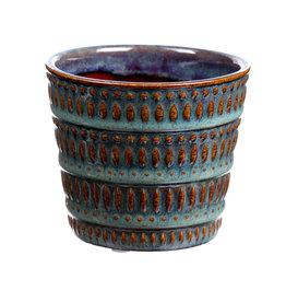 DF Pot Avella3 d13.5xh12.5 blue/green x 24