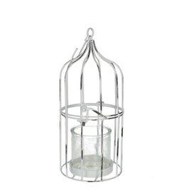 4AT Homedeco Vogelkooi d15*30cm+glas x 4
