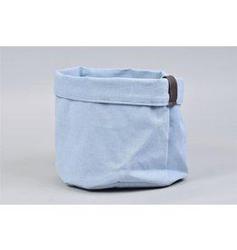 HD Plant. Plantbag Textiel Mand Old blau 21x17cm (x 24)