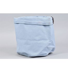 HD Plant. Plantbag Textiel Mand Old blau 24x21cm (x 18)