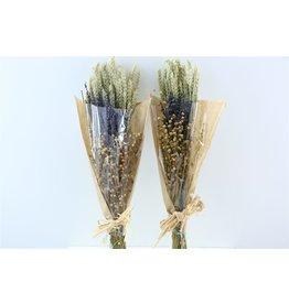 GF Dried Bouquet Deluxe Triticum/lavendel/lino x 5