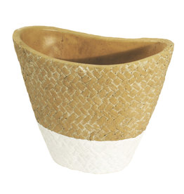 4AT Keramik Sabina pot ovaal 18*10*15.5cm (x 8)
