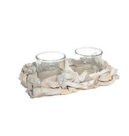 4AT Glas Planter drijfh.+2bol 33*21*7cm (x 12)
