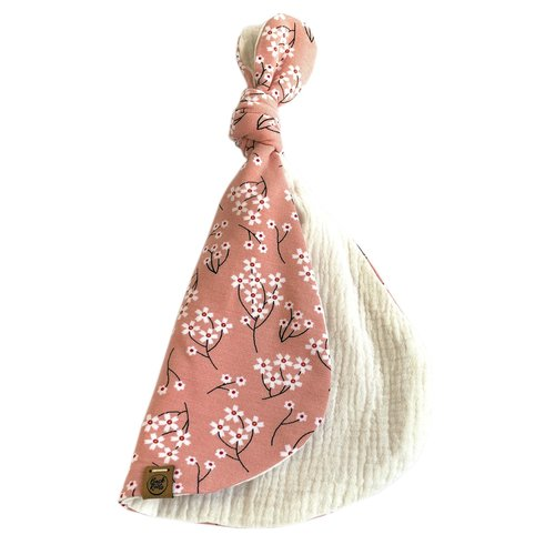 Back2yourroots Lilly Knoopknuffel konijn - roze/off white