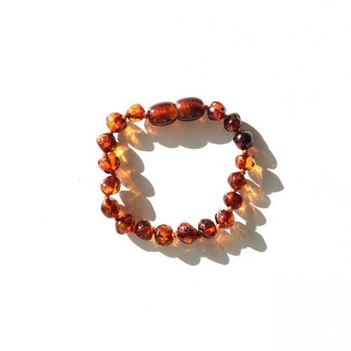 Mayli Jewels Barnsteen Armband - Amber Cognac
