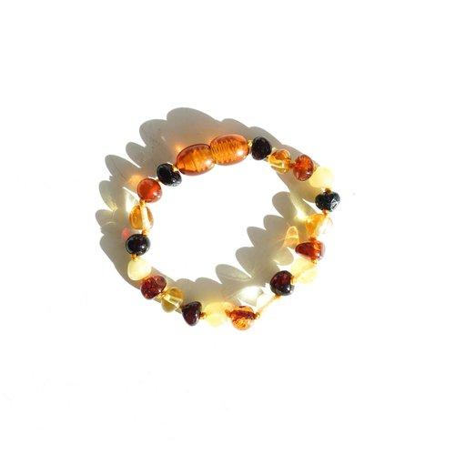 Mayli Jewels Barnsteen Armband - Amber Mix