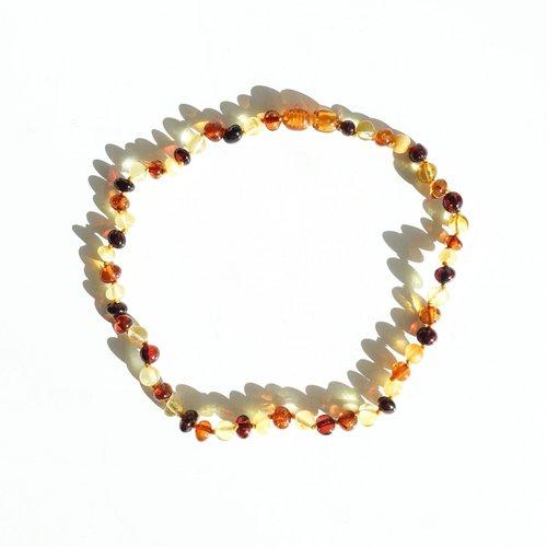 Mayli Jewels Barnsteen Ketting - Amber Mix