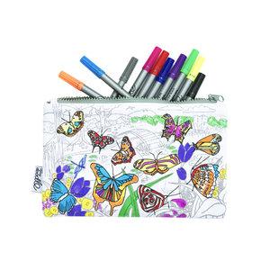 Eatsleepdoodle Etui Butterfly incl. Stiften