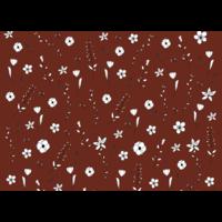 Ansichtkaart Bruine Bloemen