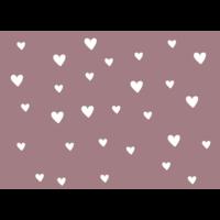 Ansichtkaart oud roze met Hartjes