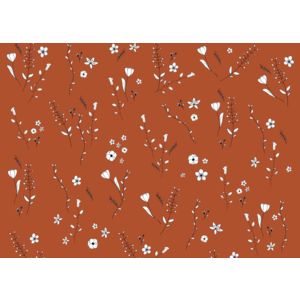 Jut & Julie Ansichtkaart Oranje Bloemen
