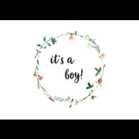 Ansichtkaart It's a Boy