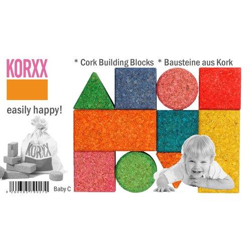 Korxx Gekleurde Kurk Blokken - Startset Baby C