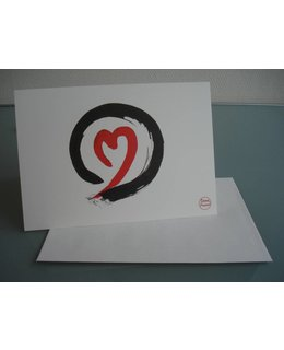 greetings cards Sumi-e Zen-Circle