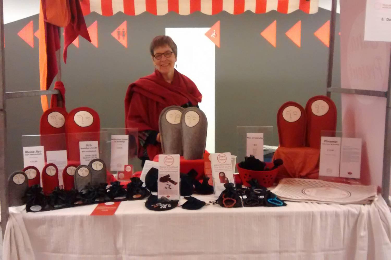 Prachtige dag bij de Dalai Lama markt