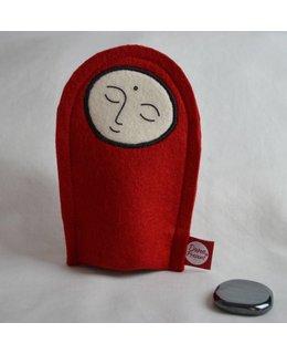 Jizo with Wishing Stone – Hematiet