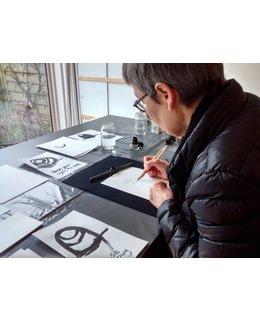 Penseelschildering met Japanse inkt speciaal voor jou