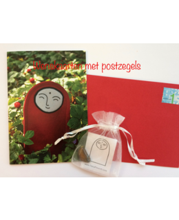 2 Greetings cards + 2 small gemstones + stamps (for the Netherlands)