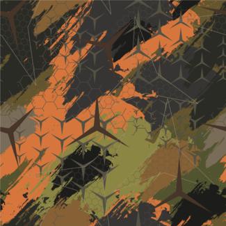 ViceVinyls Camo Benz oranje groen