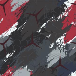 ViceVinyls Camo Benz rood grijs