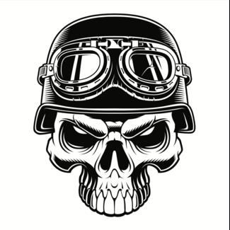 ViceVinyls Race skull jawless