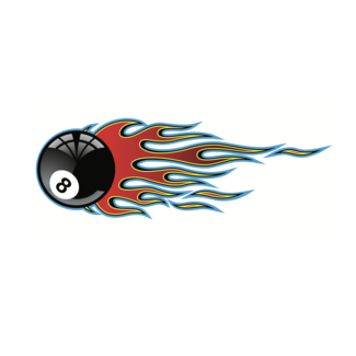 ViceVinyls Tribal flame 8 ball