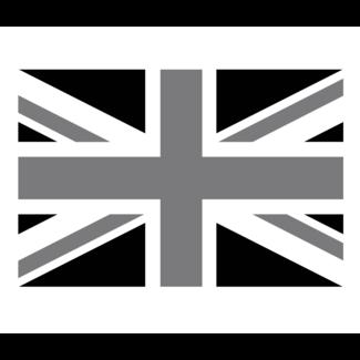 ViceVinyls UK vlag zwart wit grijs