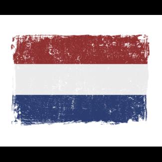 ViceVinyls Nederlandse vlag grunge