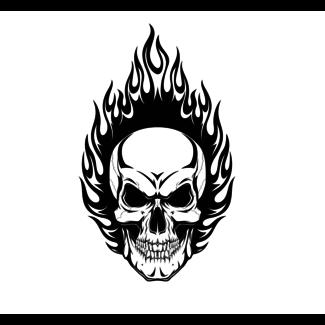 ViceVinyls Burning skull black