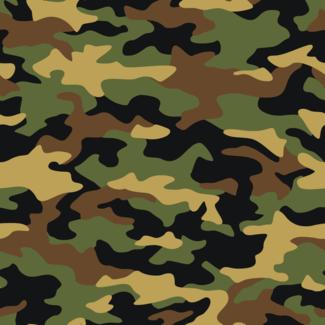 ViceVinyls Camo army groen bruin zwart
