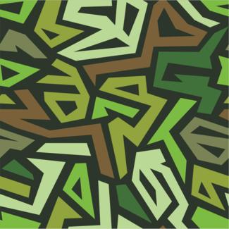 ViceVinyls Camo geometric fel groen
