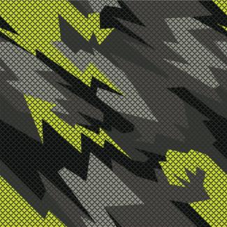 ViceVinyls Camo geometric geel grijs