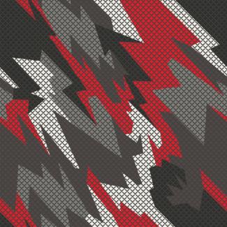 ViceVinyls Camo geometric rood wit grijs