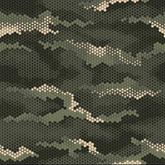 ViceVinyls Camo hexagon snake groen