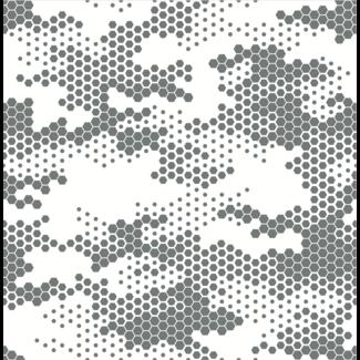 ViceVinyls Camo hexagon wit grijs