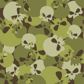 ViceVinyls Camo skulls groen