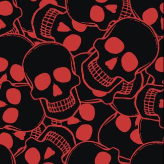 ViceVinyls Camo skulls zwart rood