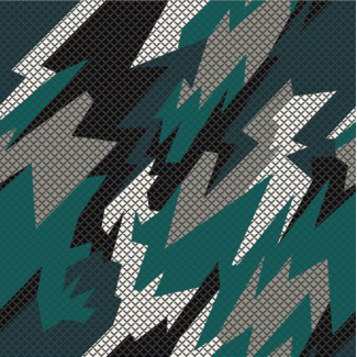ViceVinyls Camo race geometric groen