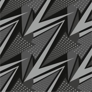 ViceVinyls Race geometric grijs zwart