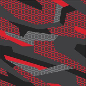 ViceVinyls Camo race geometric rood grijs
