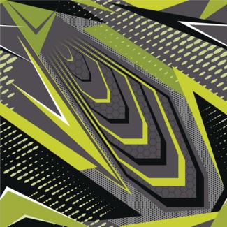 ViceVinyls Race grijs geel