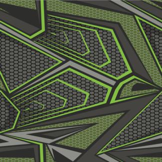 ViceVinyls Race grijs lime groen