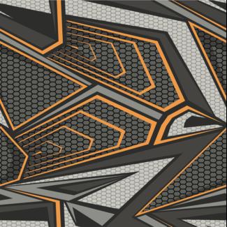 ViceVinyls Race grijs oranje