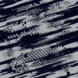 ViceVinyls Race grunge zwart grijs